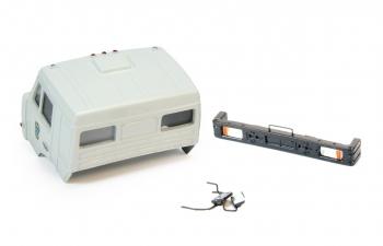 Спальная кабина для КАМАЗ вариант МЧС (Евро-2, плоский бампер), белый