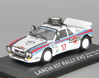 LANCIA 037 Rally EVO #17 M.Alen - I.Kivimaki Safari Rallye (1984), martini
