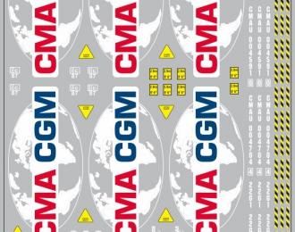 Набор декалей Контейнеры CMA GGM (вариант 1) (100х140)