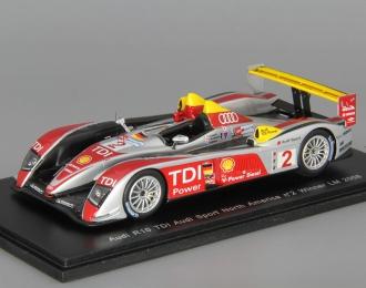 AUDI R10 TDI Audi Sport North America #2 Winner LM (2008), red / silver