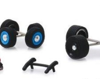 """набор для полицейских машин """"Hot Pursuit Wheel & Tire Pack"""" 4 комплекта колес, кенгурятник и люстра"""