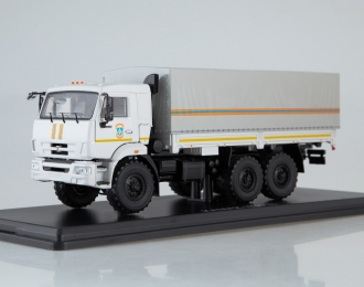 Камский грузовик 43118 бортовой с тентом МЧС, белый