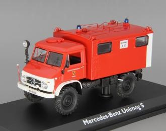 """MERCEDES-BENZ Unimog 404S Funkkoffer """"Feuerwehr"""", red / white"""