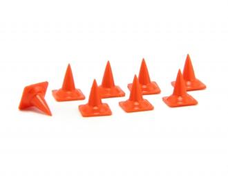 Набор дорожных конусов (малые), 8 шт, оранжевый