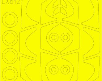 Полный набор фототравления для Rafale C с ремнями цвета хаки