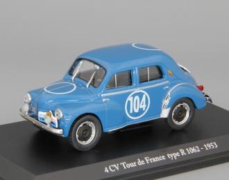RENAULT 4 CV Tour de FRance type R 1062 de 1953, серия Renault 4 CV 24, blue