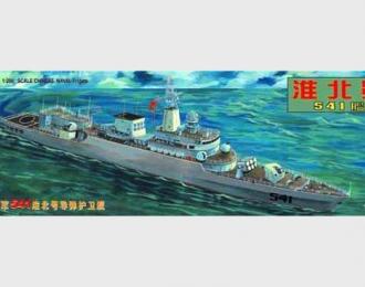Сборная модель Китайский фрегат 541 Huai Bei (Хуа Бей) проэкта 053H2G (НАТО - Jiangwei I)