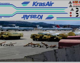 Набор декалей для Топливозаправщик ТЗ-22 (полосы, надписи, логотипы), вариант 17 (200х60)