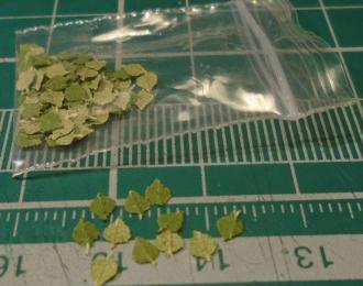 Листья для диорам Осина / береза зеленая