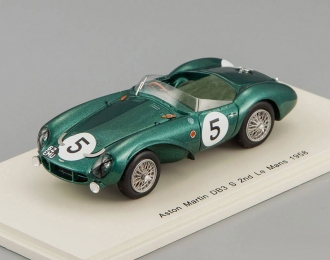 ASTON MARTIN DB3 S #5 2nd Le Mans Peter et Graham Whitehead (1958), green
