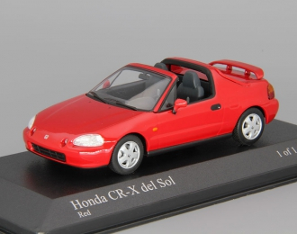 HONDA CR-X del Sol (1993), red