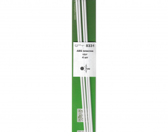 ABS пластик круг 3 мм - длина 250 мм - 4 шт