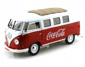 VOLKSWAGEN Transpoter T1 1962 Coca-Cola, белый с красным