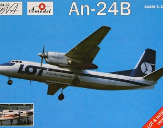 Сборная модель Советский пассажирский самолет Ан-24Б (авиалинии Польши / ГДР)
