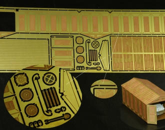 Фототравление Набор для сборки гаража производства Ижорского завода 3х6 с открытыми воротами
