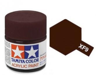 X-9 Brown (краска акриловая, глянцевый коричневый), 10 мл.