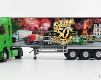 """RENAULT T520 HIGH (с люстрой) c полуприцепом-рефрижератором """"STAF 50 ANS"""" 2019"""