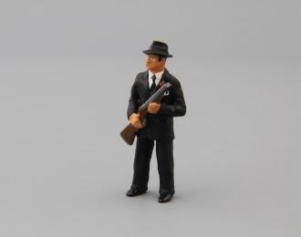 Фигурка Мужчина гангстер (в черном костюме)