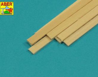 Ламели из липы 1,5х6х245 мм, 7 шт.