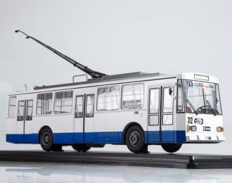 Троллейбус Skoda-14TR Ростов-на-Дону, белый / синий