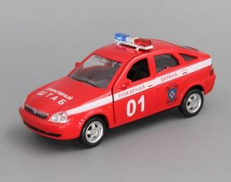 ВАЗ 2172 Приора Хэтчбек Пожарная Охрана, красный