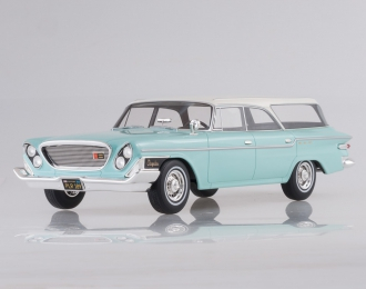 CHRYSLER Newport Town & Country Wagon (1962), light turquoise/white