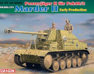 Сборная модель Самоходное орудие Panzerjager II fur Pak 40/2, Sd.Kfz.131 Marder II Early Production
