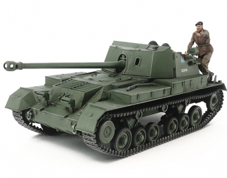 Сборная модель Английское самоходное противотанковое орудие Archer, с тремя фигурами.