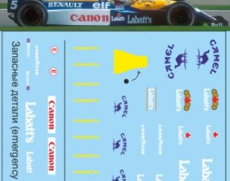Набор декалей Formula 1 Auto Collection №7 (Williams FW 14B)