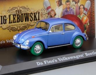 "VOLKSWAGEN Beetle 1980 машина Да Фино (из к/ф ""Большой Лебовски""), blue (Greenlight!)"