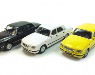 Набор из 3 моделей Горький 31105, желтый / белый / черный