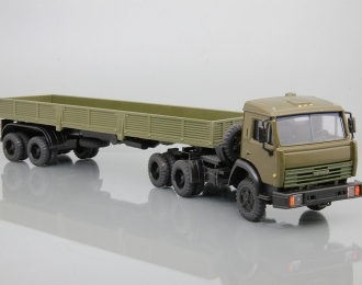 КАМАЗ-54101 с полуприцепом ОДАЗ-9370, хаки