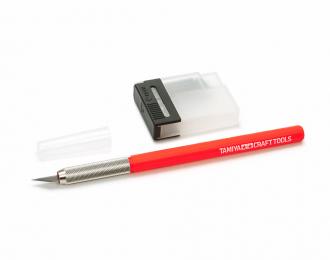Модельный ножик с красной ручкой  с 25 доп.лезвиями