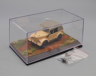 """Пластиковый Бокс-диорама для моделей """"Сельская дорога"""" (155х90х70мм)"""