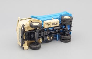 МАЗ 5549 самосвал (1977), бежевый с синим