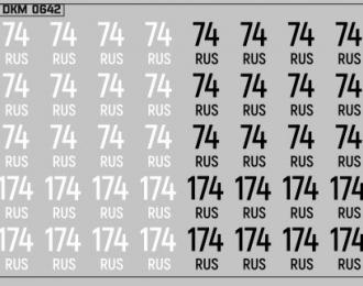 Набор декалей Дублирующие знаки России Челябинская область (100х70)
