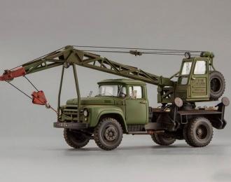 Автокран К-46 на ш. ЗИL-130 военный вариант (со следами эксплуатации)