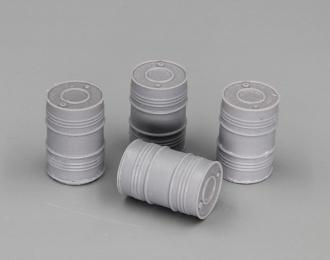 Бочки металлические 200 л. (современные), набор 4 шт.