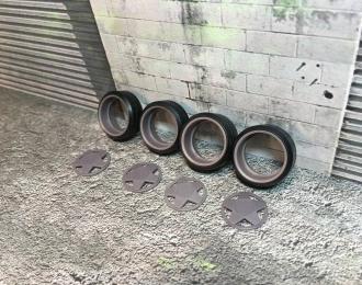 Комплект дисков Borbet A (с резиной Proxes T1-R)