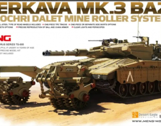 Сборная модель Israel Main Battle Tank Merkava Mk.3 BAZ with Nochri Dalet Mine Roller System
