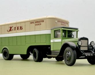 Автопоезд (10) с хлебным полуприцепом Наркомпищепрома, 1938