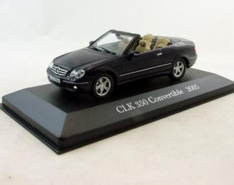 MERCEDES-BENZ CLK 350 Convertible (2005), Mercedes-Benz Offizielle Modell-Sammlung 31, темно-синий