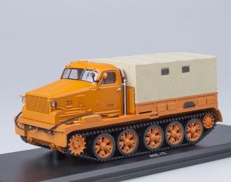 Горький АТ-Т бортовой с тентом, оранжевый