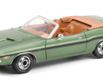 DODGE Challenger R/T Convertible 1970 Green Metallic and Deluxe Wheel Covers