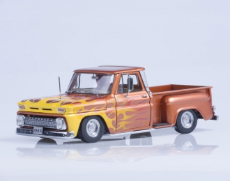 CHEVROLET C-10 Stepside Pickup Lowrider (1965), metallic orange