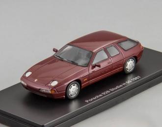 (Уценка!) PORSCHE 928 H50 concept (1987), dark red metallic