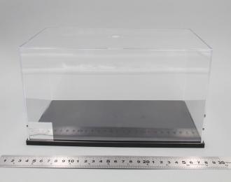 Прозрачный бокс D 240х130х140мм с черной подставкой