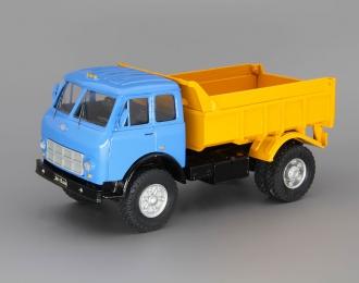 МАЗ-503А самосвал, голубой / оранжевый