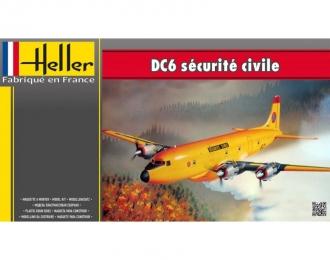 Сборная модель Самолет для тушения пожаров DC6 Securite Civile
