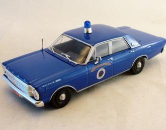 FORD Galaxie 500 Полиция города Вествуд США (1965), Полицейские Машины Мира 46, синий